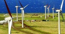 Air currents move turbines that cause wind  farm projects to produce energy.
